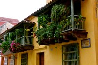 Colonial Architecture in Historic City Cartagena Colombia