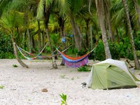 hammocks and tent sites at Costeño Beach Santa Marta Colombia