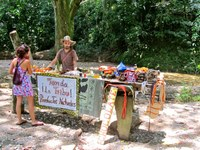 Local Vendor selling dulce at Quebrada Valencia Waterfalls Santa Marta Colombia