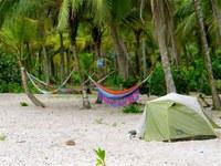 hammocks and tent sites at Costeño Beach Santa Marta Colombia