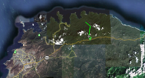 Map of Mexico Entrance to Tayrona National Park