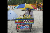 Rodadero Beach Santa Marta Colombia skyline