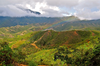 pueblo bello rainbow and mountains near Valledupar Colombia